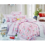 Wholesale - SIMOYO Vintage Designed Rainbow Flower Pattern 4pcs Comforter Set Queen Size