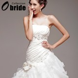 Wholesale - Mermaid Strapless Sweetheart Wedding Dresses with Beaded Applique