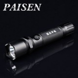 wholesale - PAISEN 3W Waterproof Glare LED Flashlight Torches Light Lamps for 18650 Rechargeable Battery