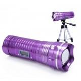 Wholesale - 3W Waterproof Variable Focus Aluminium Alloy CREE LED Fishing Light 3 Light Colors W207