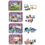 wholesale - The Girl Scene Series Block Mini Figure Toys Compatible with Lego Parts 4Pcs Set SY155