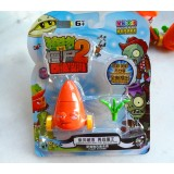 wholesale - Plants vs Zombies Figure Toy ABS Plastic Shooting Toy - Carrot Top with Light