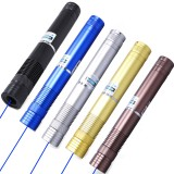 wholesale - 5W Ultra Power Blue Light Laser Pen Pointer Can Light the Cigarette and the Match, High Grade Aluminum Box Packing