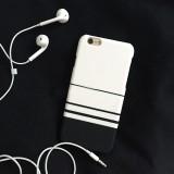 Wholesale - RABBITINS Simple Stylish Black White Strips Phone Case for iPhone 5/5s, iPhone6/6s, iPhone 6/6s Plus