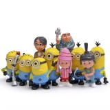 Wholesale - 10pcs/Kit DESPICABLE ME 2 The Minions Action Figures/Garage Kit Model Toy