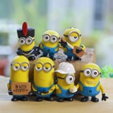 Wholesale - 7Pcs Set Despicable Me 3 The Minions Action Figure PVC Toys Cute Movie Characters
