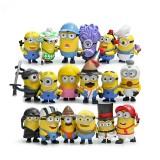 Wholesale - 18Pcs Set Despicable Me 3 The Minions Action Figure PVC Toys Cute Movie Characters Mini Figurines
