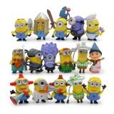 wholesale - 16Pcs Set Despicable Me 3 The Minions Action Figure PVC Toys Cute Movie Characters Mini Figurines