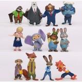 Wholesale - 12Pcs Set Zootopia Roles Action Figure PVC Toys Cute Movie Characters Mini Figurines