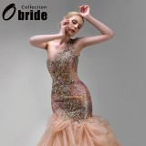Wholesale - Mermaid StraplessOne-shoulder Sweetheart Wedding Dresses with Beaded Applique