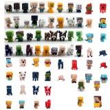 wholesale - 72Pcs Set MineCraft Action Figure Toys MC PVC Block Mini Figure Toys 3cm/1.2inch
