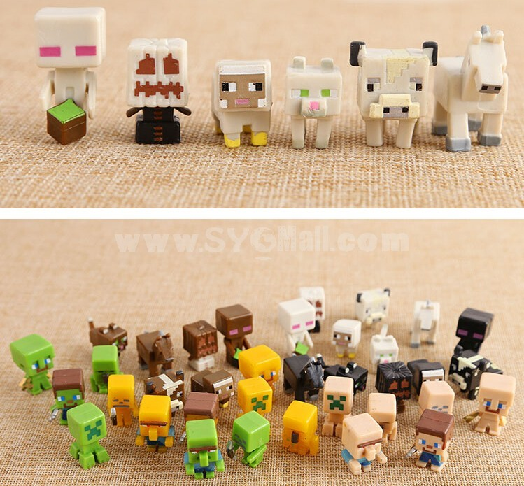 Minecraft Toys And Mini Figures For Kids : Wholesale pcs set minecraft action figure toys mc pvc