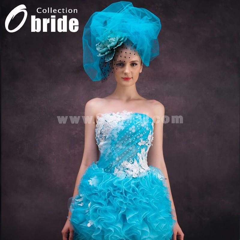Mini Strapless Wedding Dress