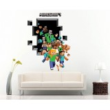 Wholesale - Minecraft 3D Wall Stickers Decorative Wall Decal Home Decor 6006 50x70cm