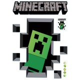 Wholesale - Minecraft 3D Wall Stickers Decorative Wall Decal Creeper 6018 50x70cm