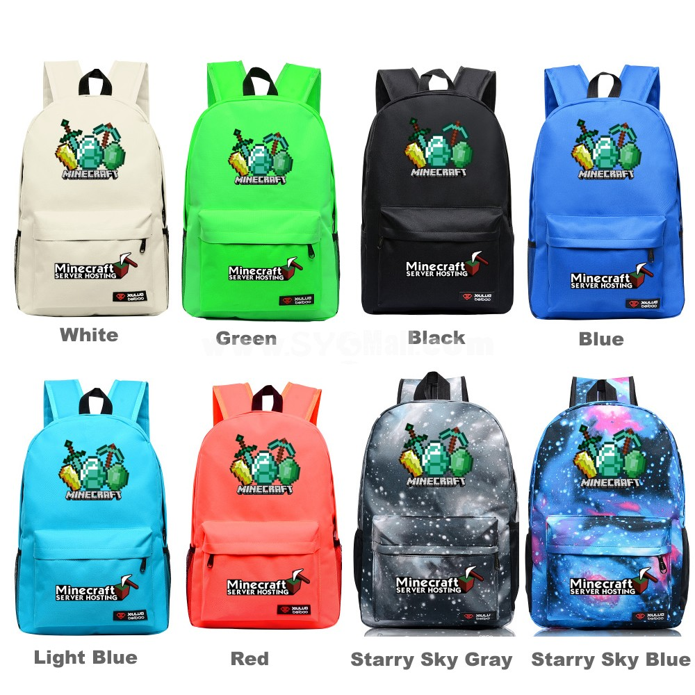 MineCraft MC The Sword & Pick Pattern Backpacks Shoulder Rucksacks Schoolbags