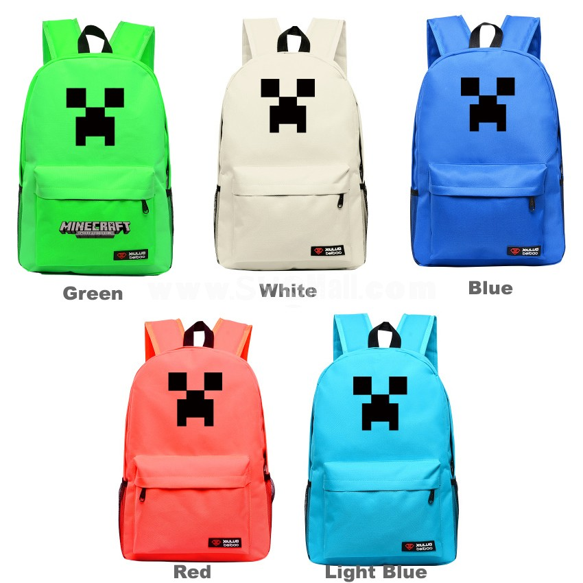 MineCraft MC Creeper Pattern A Backpacks Shoulder Rucksacks Schoolbags