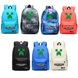 Wholesale - MineCraft MC Creeper Pattern B Backpacks Shoulder Rucksacks Schoolbags