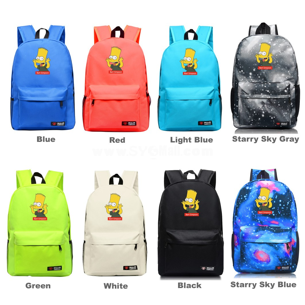 The Simpsons Pattern A Backpacks Shoulder Rucksacks Schoolbags