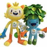Wholesale - 2016 Brazil Rio Olympic Paralympic Mascot Plush Toys Vinicius and Tom Stuffed Dolls 30CM/12Inch Tall
