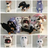 wholesale - 6Pcs Set The Secret Life of Pets Plush Toys Stuffed Animals Small Size 14-27CM/5.5-10Inch