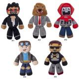 wholesale - Tube Heroes TDM Captainsparklez Jeromeasf Exploding Sky Plush Toys Stuffed Dolls 19CM/7.8Inch Tall
