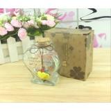 Wholesale - Cute heart shape flash light wishing bottle