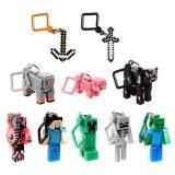 wholesale - 10Pcs MineCraft MC Action Figures PVC Mini Toys with Key Chains 001