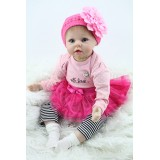 "Wholesale - 22"" High Simulation Girl Baby Doll Lifelike Realistic Silicone Doll NPK-019"