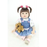 "Wholesale - 22"" High Simulation Baby Doll Lifelike Realistic Silicone Doll NPK-026"