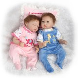"Wholesale - 22"" High Simulation Baby Doll Boy and Girl Lifelike Realistic Silicone Doll NPK-028"
