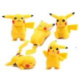 Wholesale - 5Pcs Set Pokemon Pikachu Roles Action Figures PVC Toys 1.5Inch Tall