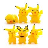 Wholesale - 6Pcs Set Pokemon Pikachu Roles Action Figures PVC Toys 1.5Inch Tall