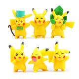Wholesale - 6Pcs Set Pokemon Pikachu Roles Action Figures PVC Toys 3-5cm/1.5-2Inch Tall