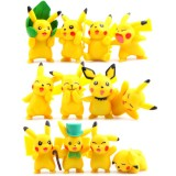 Wholesale - 12Pcs Set Pokemon Pikachu Roles Action Figures PVC Toys 2-5cm/1-2Inch Tall
