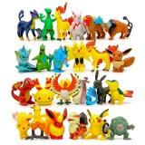 Wholesale - 100Pcs Set Pokemon Pikachu Roles Action Figures PVC Toys 4-6cm/1.5-2.5Inch Tall