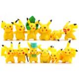 Wholesale - 12Pcs Set Pokemon Pikachu Roles Action Figures PVC Toys 2-5cm/1-2Inch Tall 2nd Version