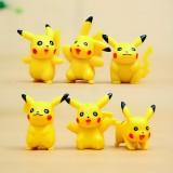 Wholesale - 6Pcs Set Pokemon Pikachu Roles Action Figures PVC Toys 1.5Inch Tall 2nd Version