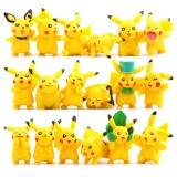 Wholesale - 18Pcs Set Pokemon Pikachu Roles Action Figures PVC Toys 2-5cm/1-2Inch Tall