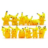 Wholesale - 12Pcs Set Pokemon Pikachu Roles Action Figures PVC Toys 2-5cm/1-2Inch Tall 4th Version