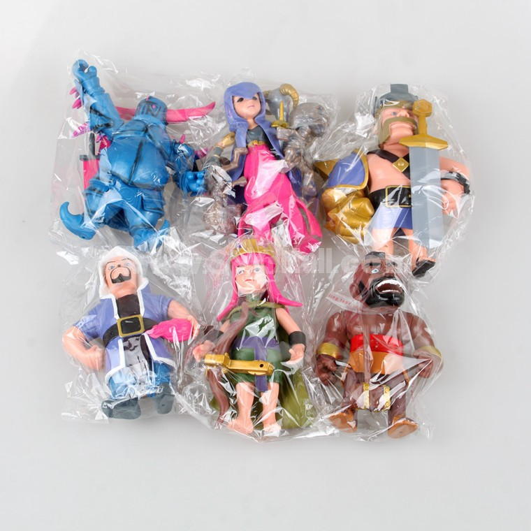 8Pcs Set Clash of Clans Roles PVC Action Figure Toys 5Inch Tall