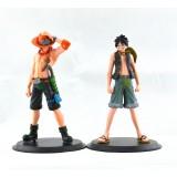 Wholesale - One Piece Monkey.D.Luffy Portagas D Ace Action Figures 2Pcs Set