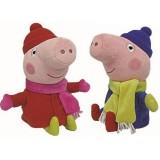 Wholesale - Peppa Pig Plush Toy Winter Dress Peppa & George Peppa 2Pcs 22cm