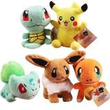 Wholesale - Pokémon Pokemon Plush Toys Stuffed Dolls Pikachu Bulbasaur Charmander Squirtle 15cm/6Inch