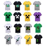 wholesale - Minecraft Short Sleeved T-Shirt Sword Dick Pattern 100% Cotton