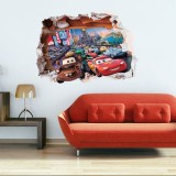 Wholesale - Cars Lightning McQueen 3D Wall Stickers Decorative Wall Decal 50x70cm
