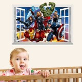Wholesale - Marvel's The Avengers 3D Wall Stickers Decorative Wall Decal 50x70cm