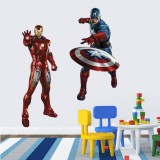 Wholesale - Iron Man Captain America 3D Wall Stickers Decorative Wall Decal 50x70cm