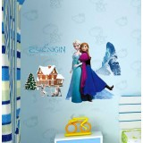 Wholesale - Frozen Anna Elsa 3D Wall Stickers Decorative Wall Decal 50x70cm
