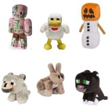 Wholesale - Minecraft Plush Toys 6Pcs Set - Snow Golem Black Leopard Duck Rabbit Zombie